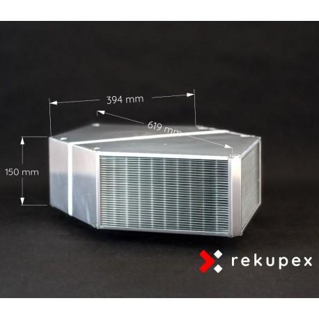 Rekuperační výměník tepla RX 06/150 (protiproudý teplovzdušný rekuperátor pro rekuperace vzduchu)