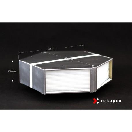 Rekuperační výměník tepla RSX-P 03/100 (protiproudý teplovzdušný rekuperátor pro rekuperace vzduchu)