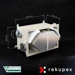 RECUBOX OPEN RX 08/400 (vyjmutelný rekuperační výměník v opláštění, rekuperační box, rekuperace vzduchu, rekuperační jednotka)