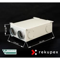 RECUBOX RX 06/150 (rekuperační výměník v opláštění, rekuperační box, rekuperace vzduchu)