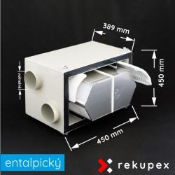 RECUBOX entalpický OPEN eX 03/300 (vyjmutelný rekuperační výměník v opláštění, rekuperační box, rekuperace vzduchu, rekuperační