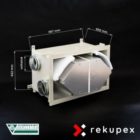 RECUBOX OPEN RX 05/800 (vyjmutelný rekuperační výměník v opláštění, rekuperační box, rekuperace vzduchu, rekuperační jednotka)