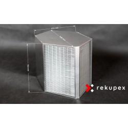 Rekuperační výměník tepla RX 08/700 (protiproudý teplovzdušný rekuperátor pro rekuperace vzduchu)