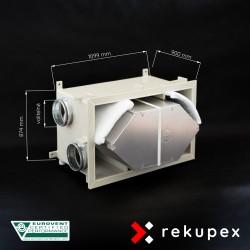 RECUBOX OPEN RX 08/700 (vyjmutelný rekuperační výměník v opláštění, rekuperační box, rekuperace vzduchu, rekuperační jednotka)